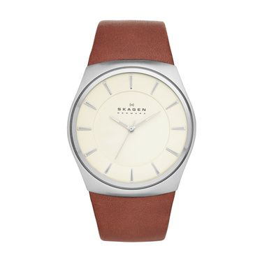 SKW6084 Havene Men`s Brown Leather Strap Watch