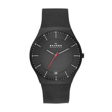 SKW6087 Balder Men`s Black Silicone Strap Watch