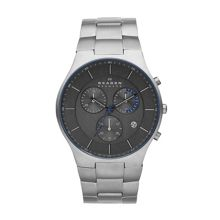 SKW6077 Titanium brushed silver sport watch