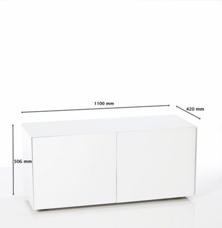 Frank Olsen Gloss White Tv cabinet