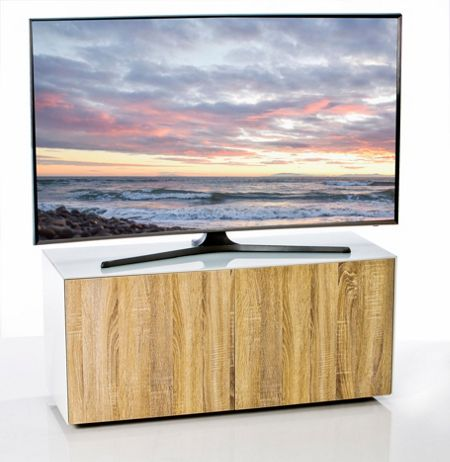 Frank Olsen Gloss white & oak TV cabinet