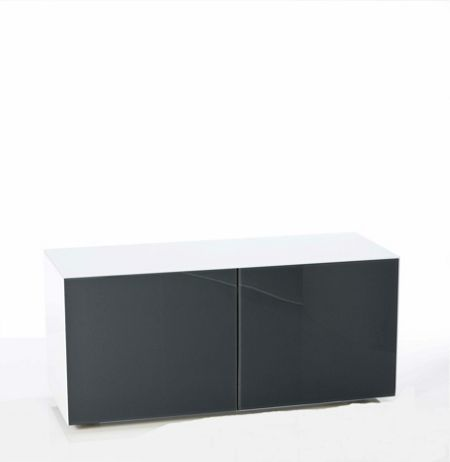 Frank Olsen Gloss white & grey TV cabinet