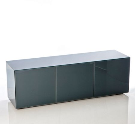 Frank Olsen Gloss Grey TV cabinet - Home Assembly