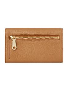 DKNY Tribeca light tan medium tech flap over purse
