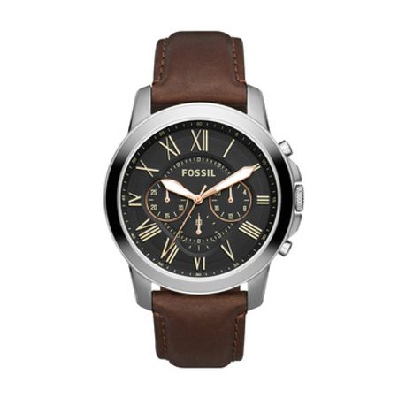 Fossil FS4813 Grant Brown Leather Mens Watch