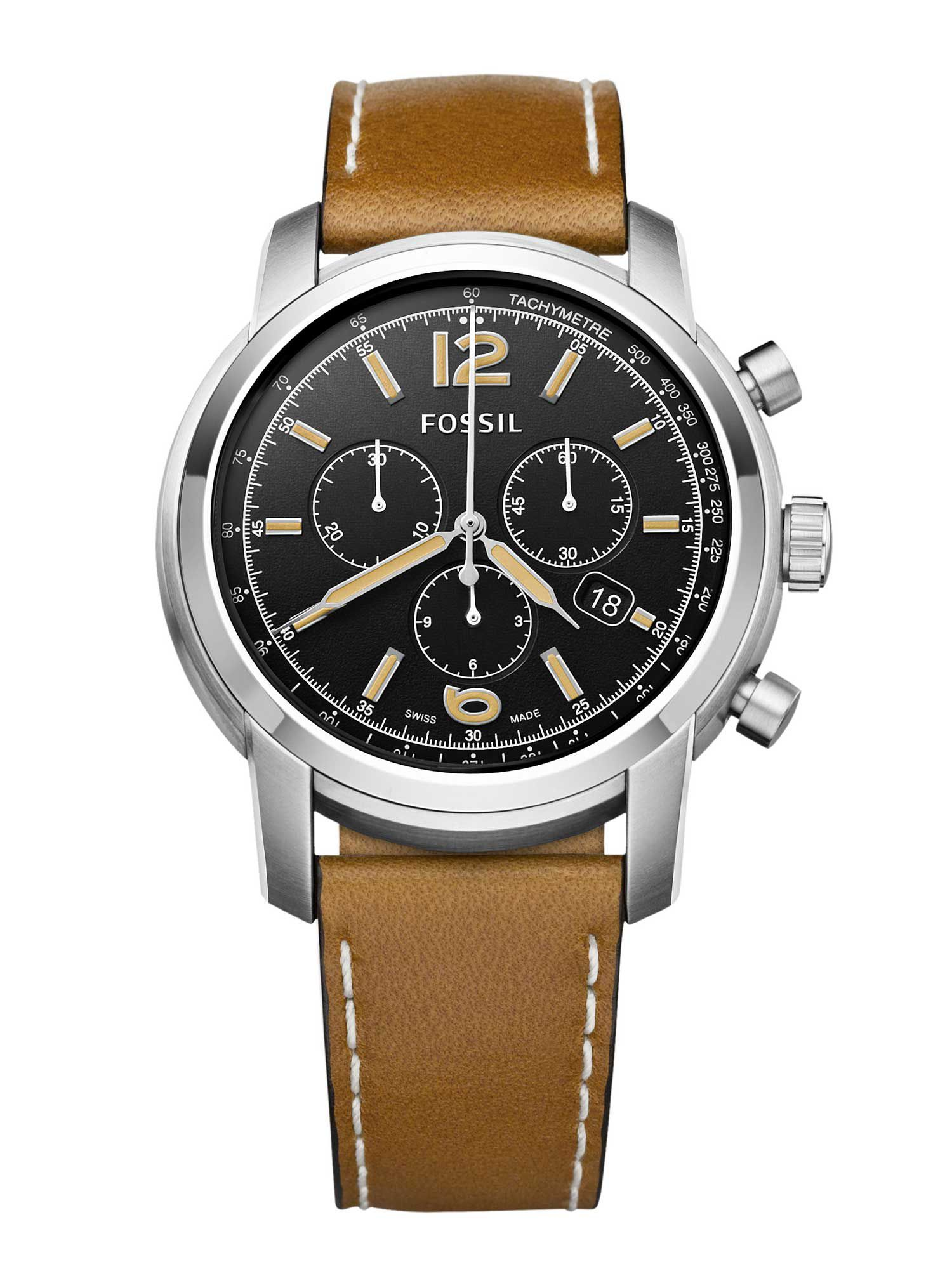 FSW7005 Chronograph tan leather mens watch