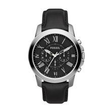 FS4812 Grant Black Leather Mens Watch