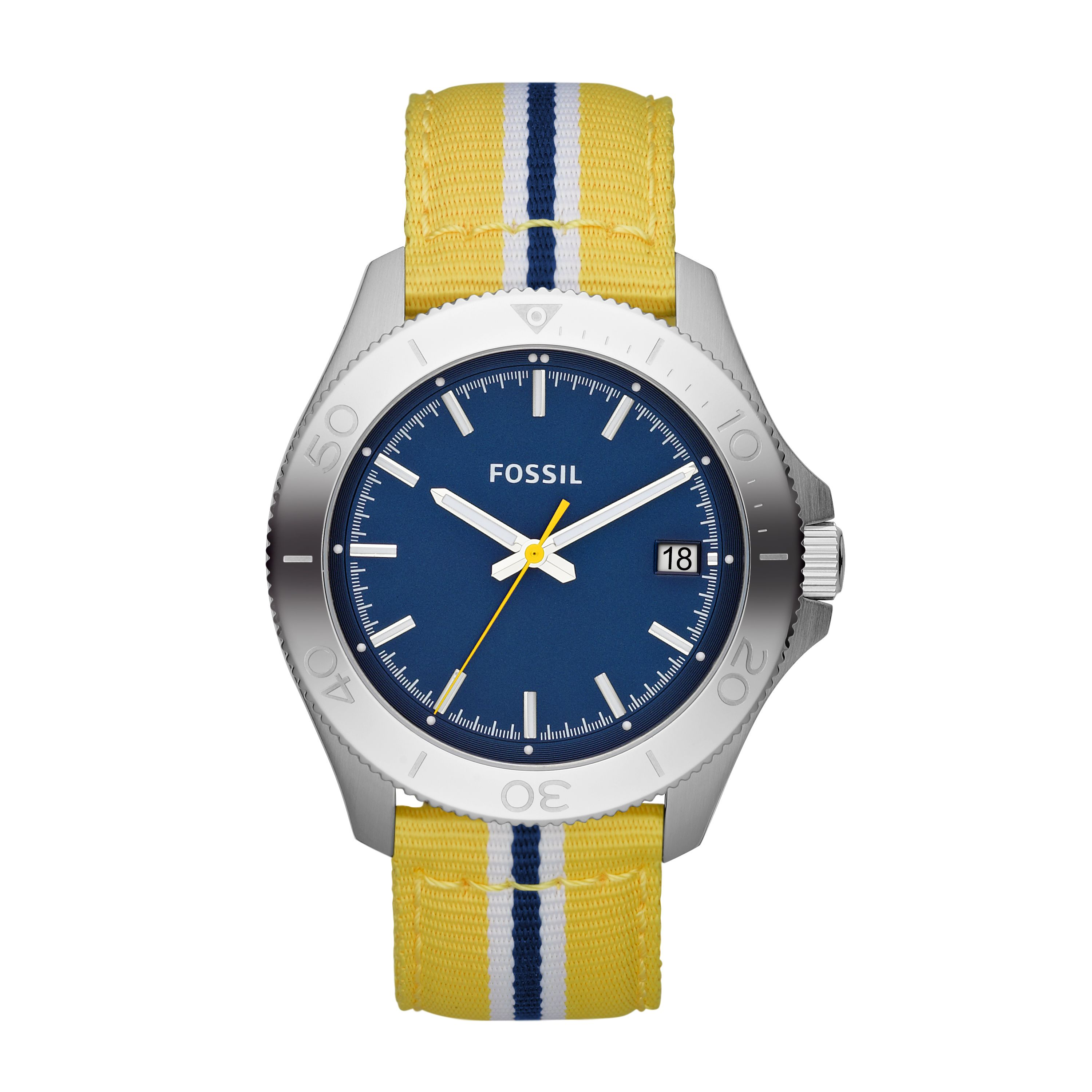 AM4477 Retro traveller yellow nylon unisex watch
