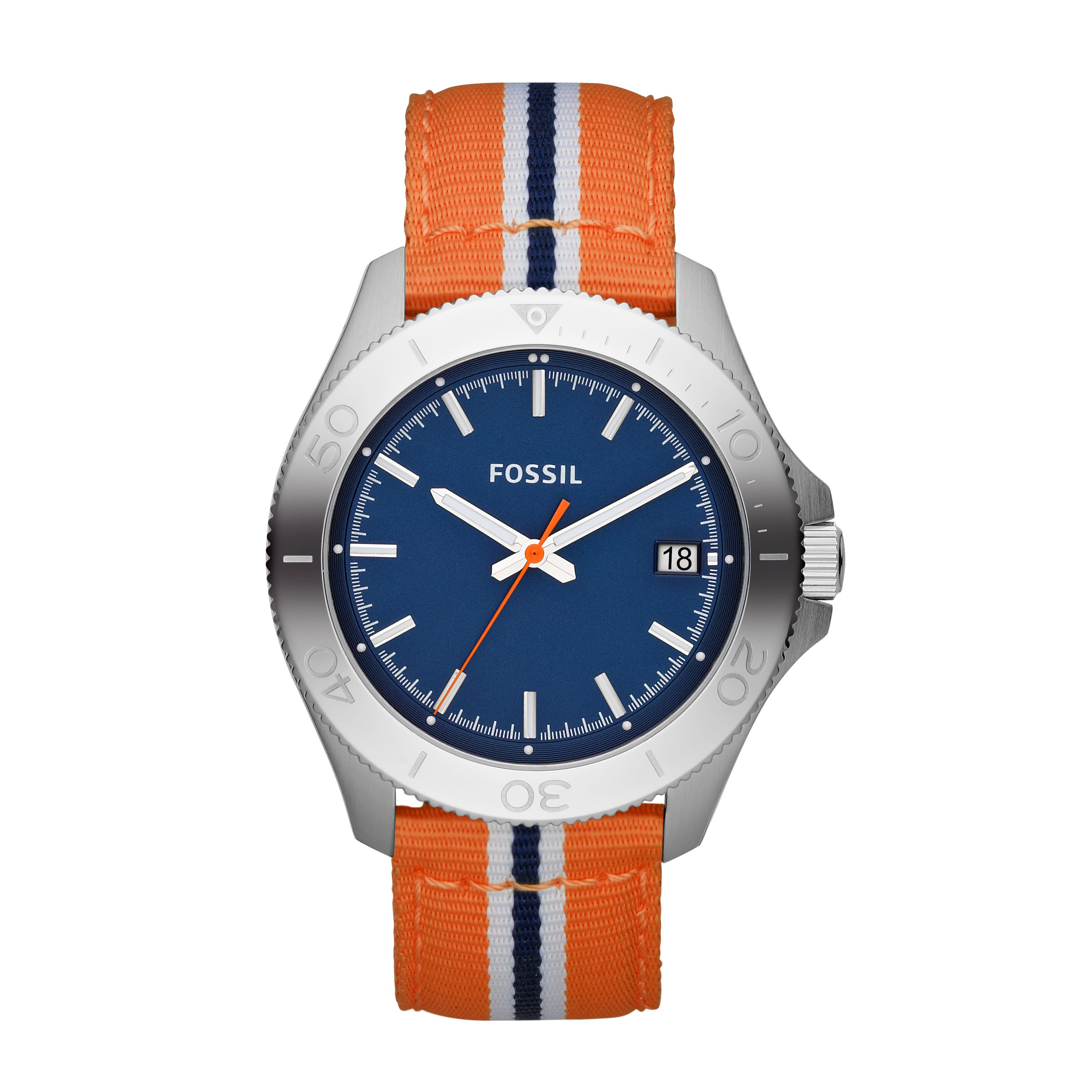 AM4478 Retro traveller orange nylon unisex watch