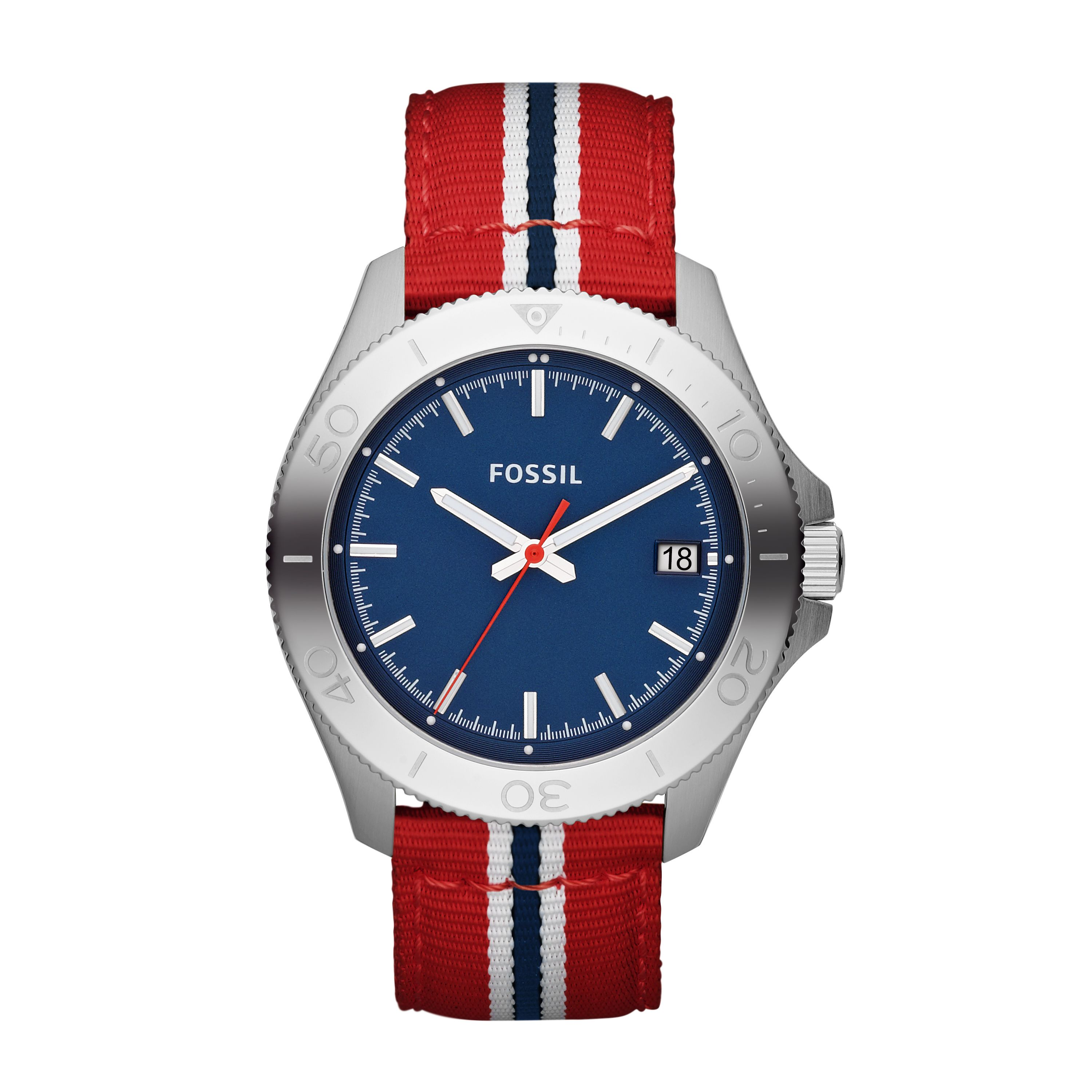 AM4479 Retro traveller red nylon unisex watch