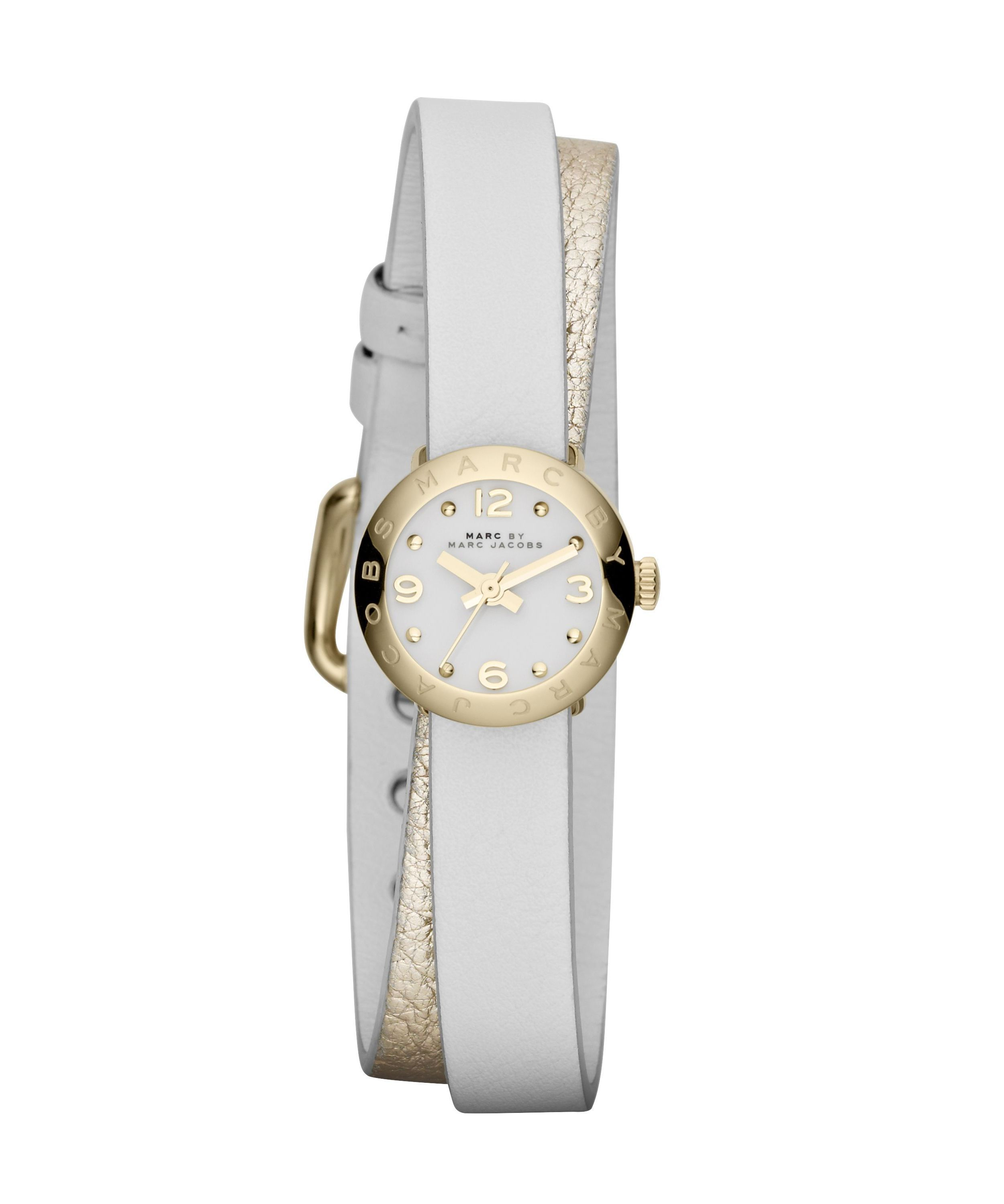 MBM1255 Amy dinky gold/white leather ladies watch