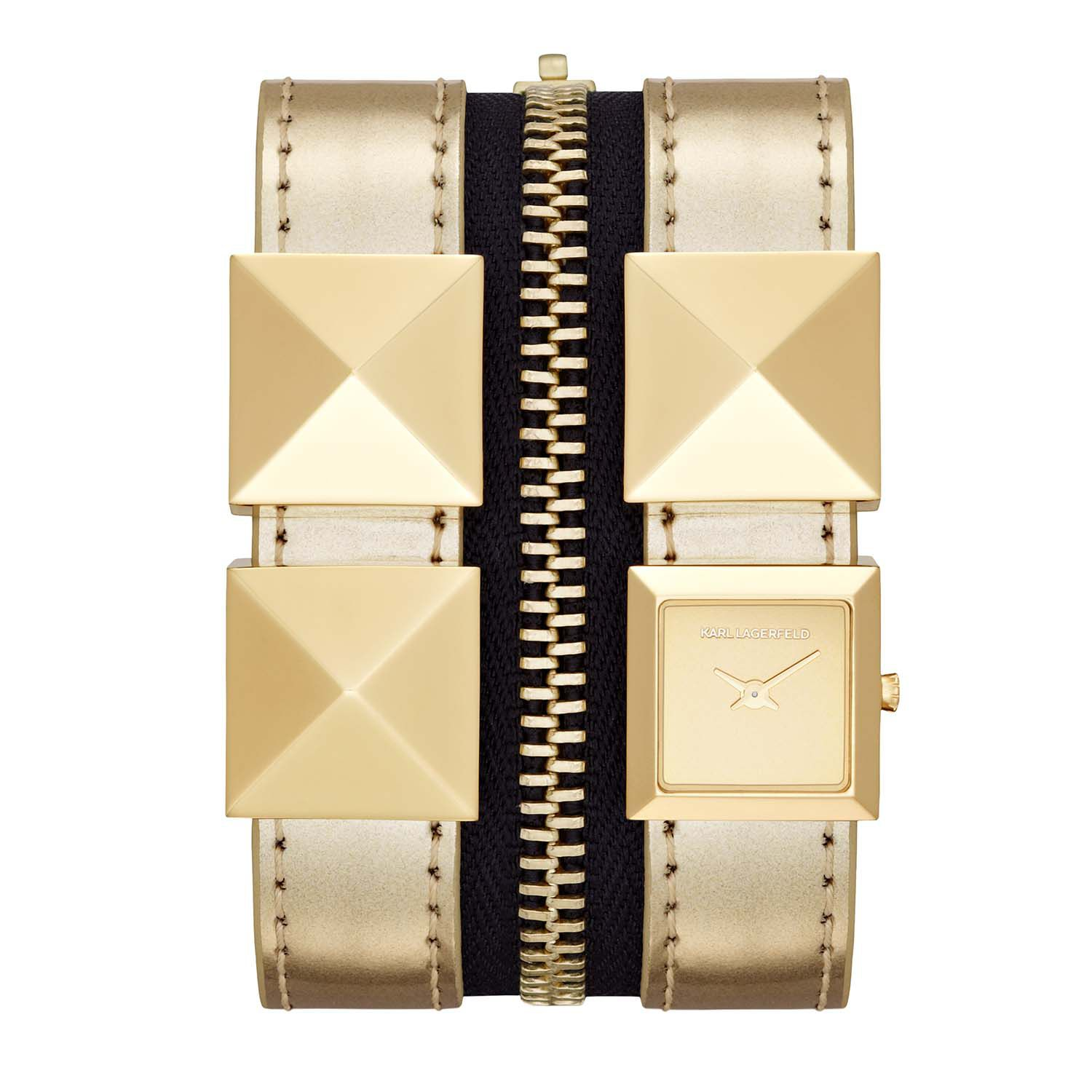 KL2009 EDGE gold leather ladies watch