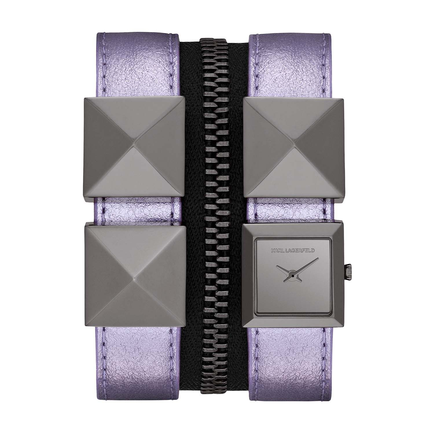 KL2010 EDGE purple leather ladies watch