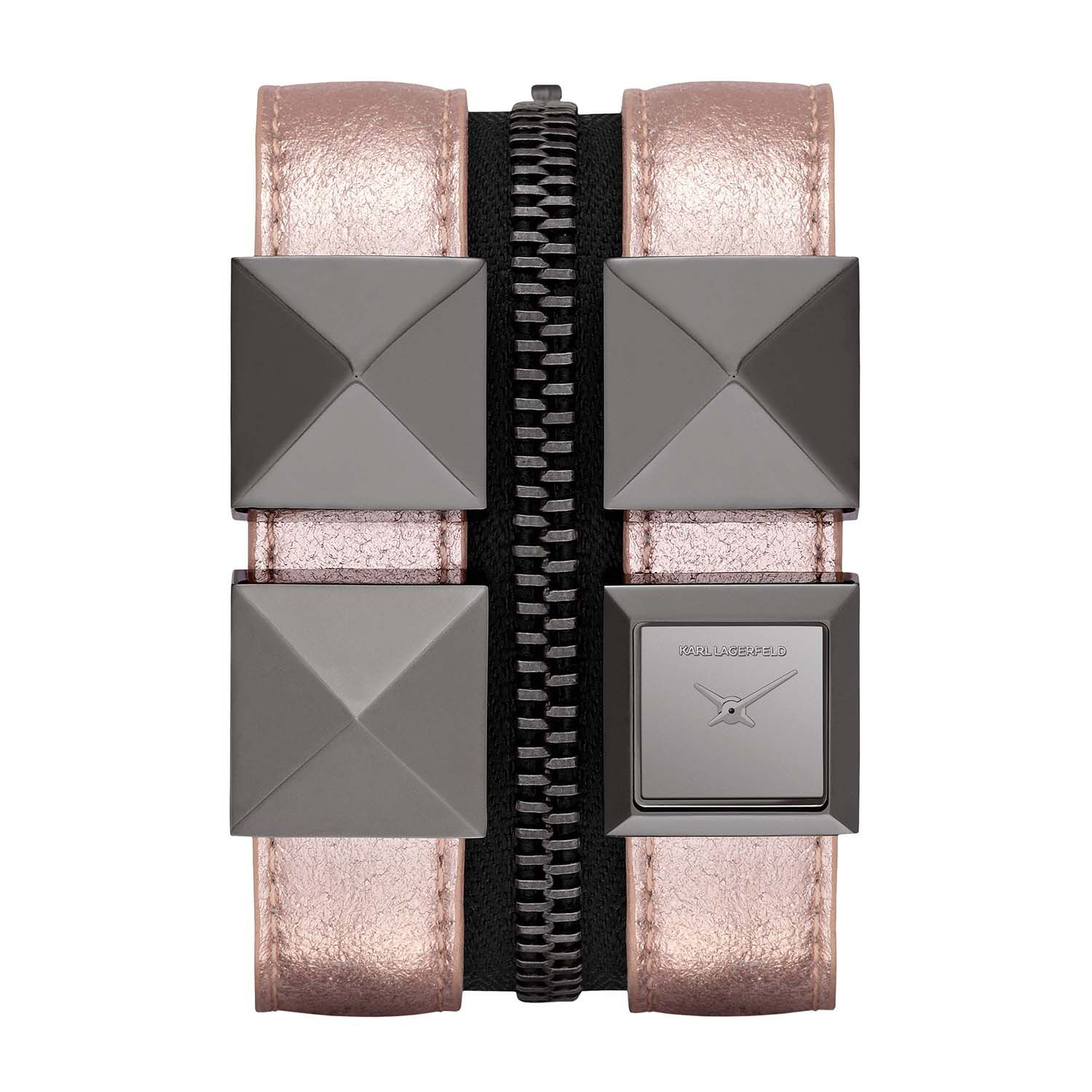 KL2011 EDGE pink leather ladies watch