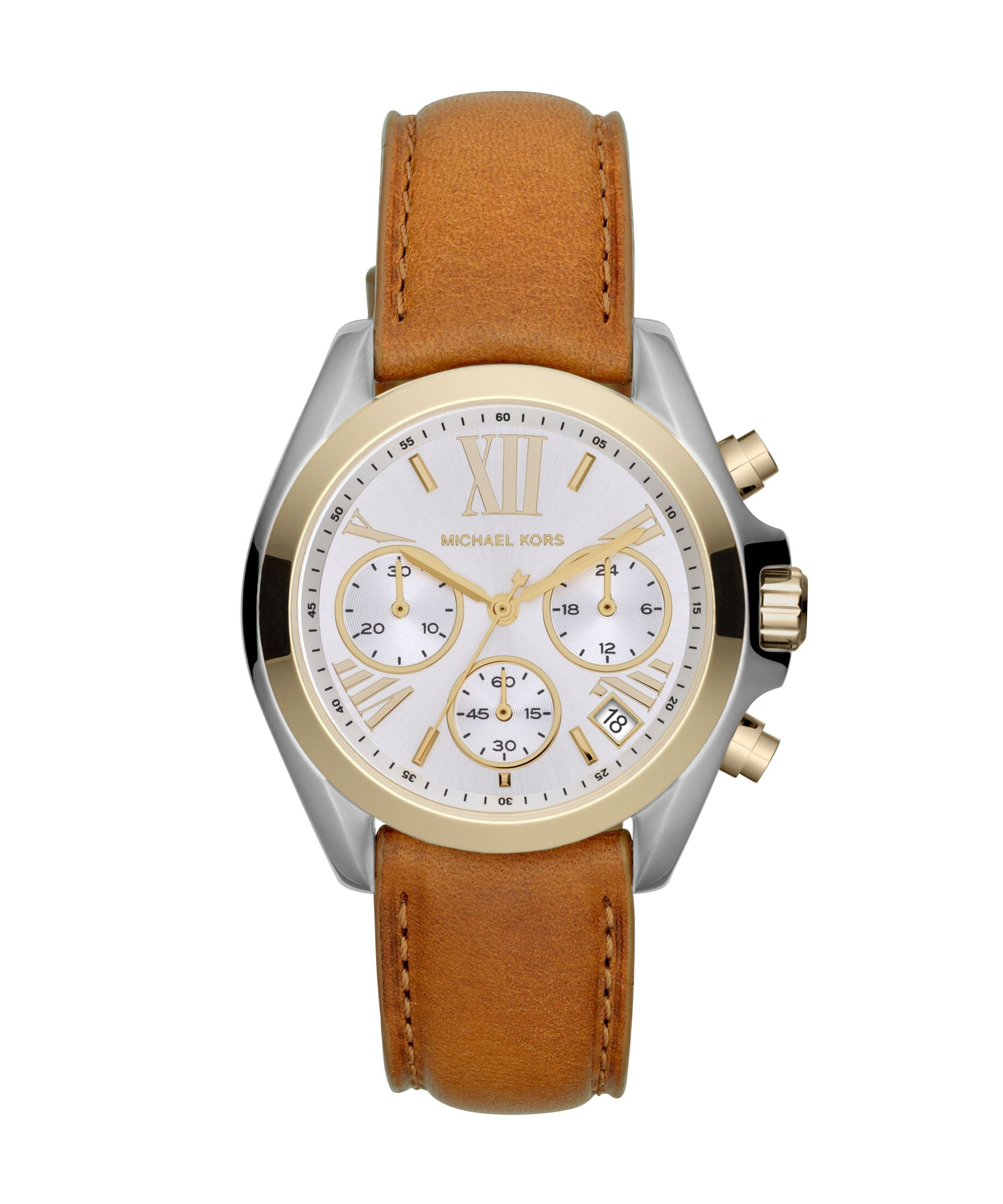 MK2301 Brown leather ladies watch