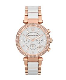 Michael Kors MK5774 Parker Rose White Ladies Watch