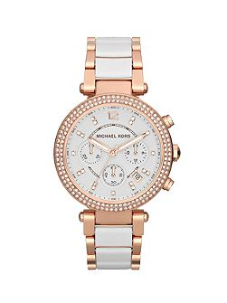 MK5774 Parker Rose White Ladies Watch