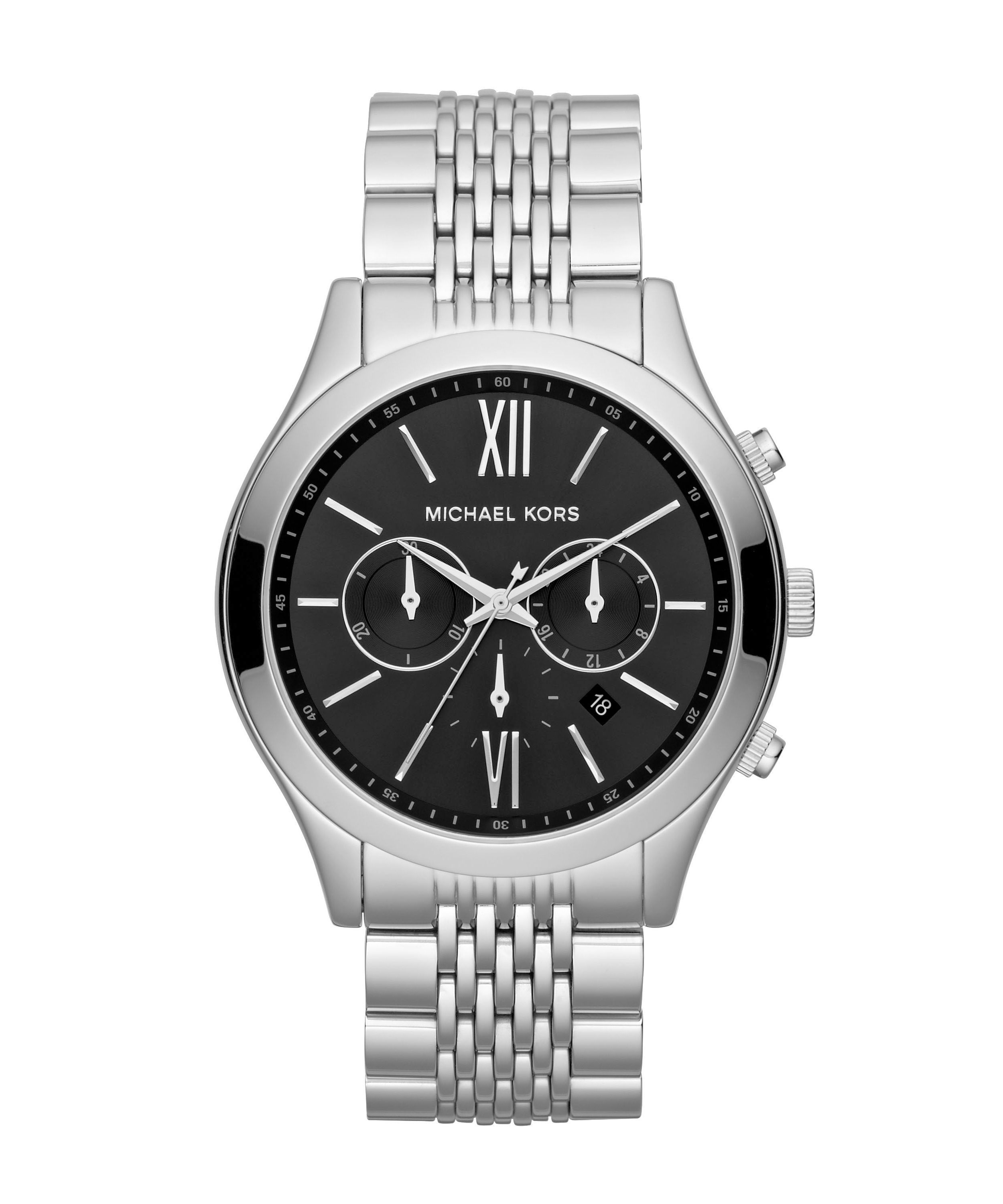 MK8305 Sport silver stainless steel mens watch