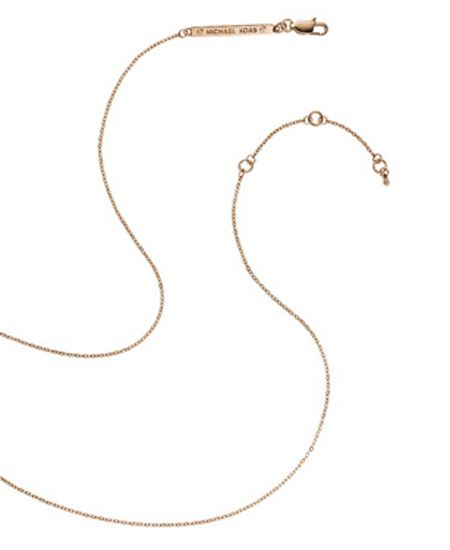 Michael Kors Heritage Rose Gold Pendant Necklace