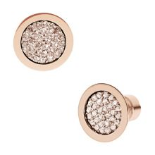 Brilliance Rose Gold Pave Stud Earrings