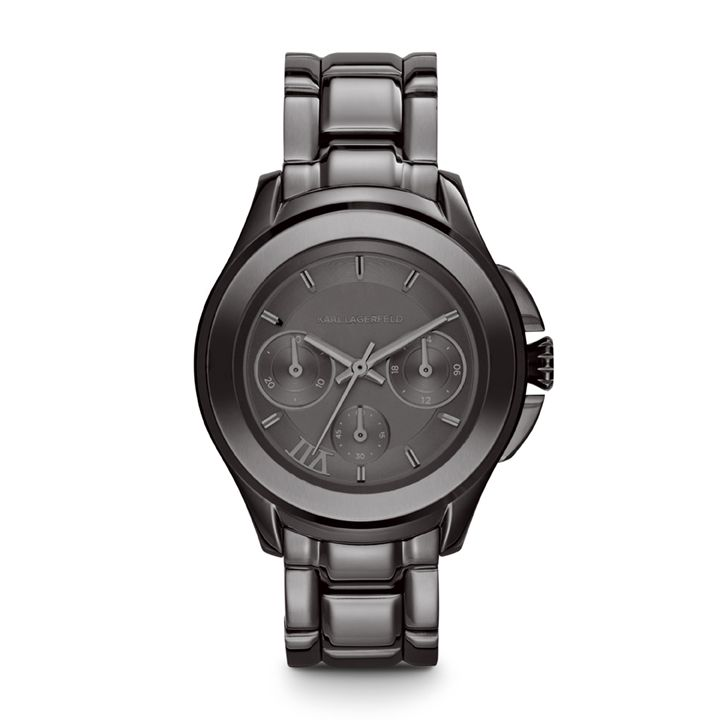KL2402 Klassic gunmetal grey mens  bracelet watch