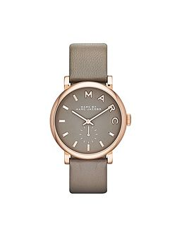 MBM1266 Baker Ladies Grey Leather Strap Watch