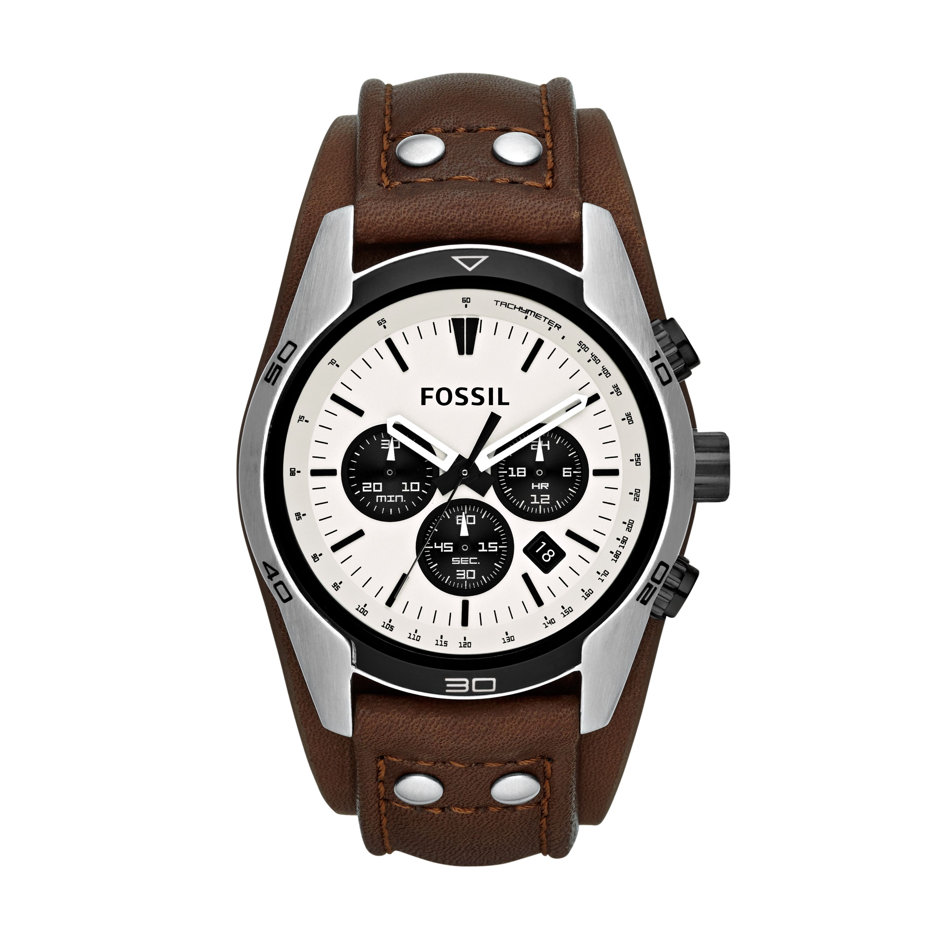 CH2890 Coachman Brown Leather Mens Watch