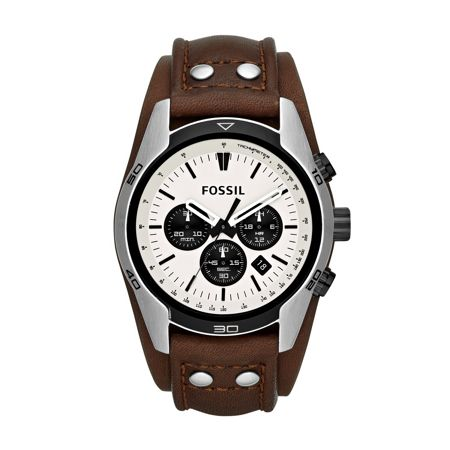 Fossil CH2890 Coachman Brown Leather Mens Watch