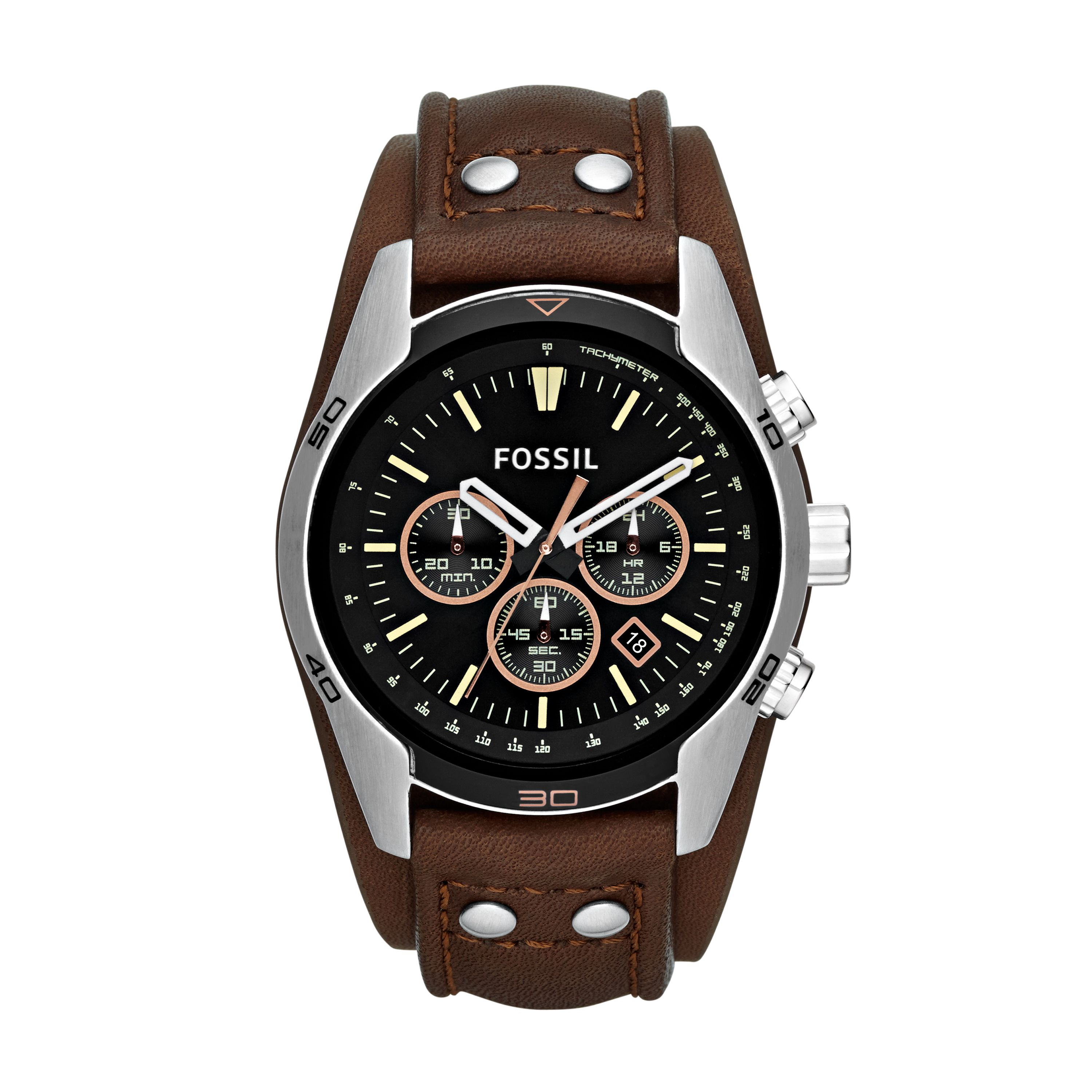 CH2891 Coachman Brown Leather Mens Watch