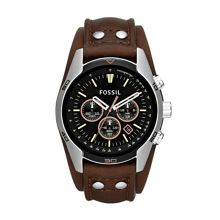 Fossil CH2891 Coachman Brown Leather Mens Watch