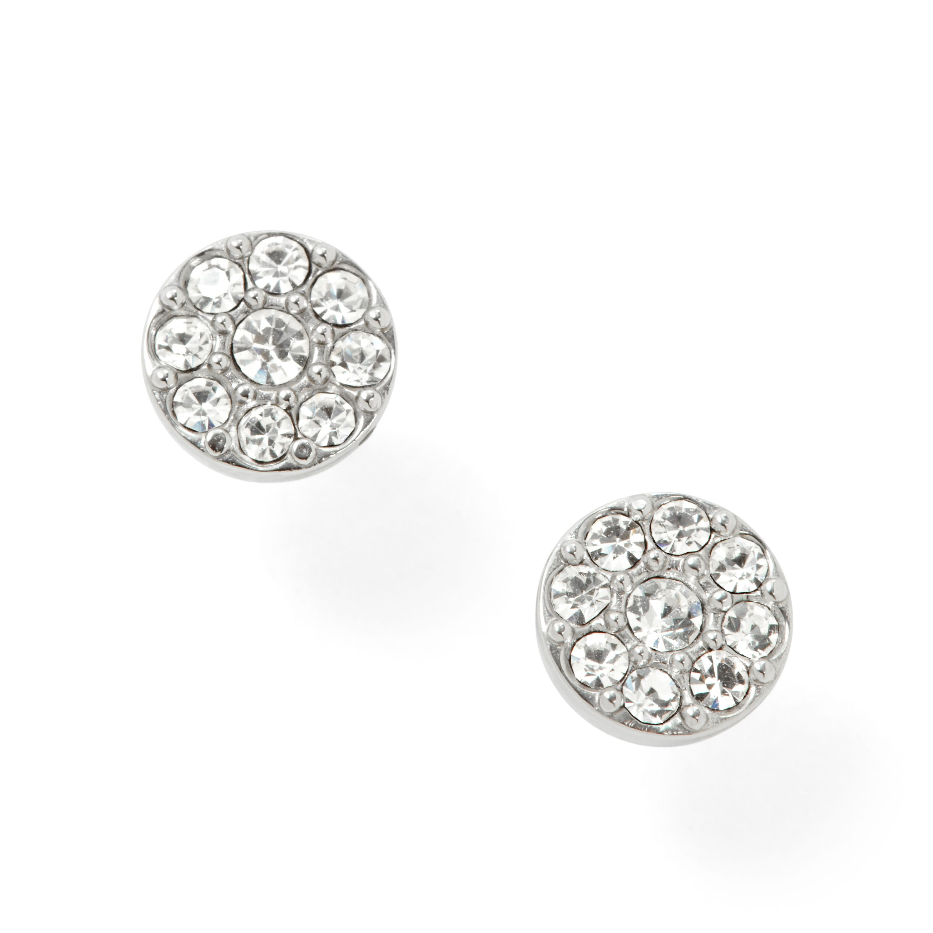 Jf00828040 Ladies silver vintage glitz earrings