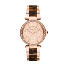 Michael Kors MK5841 Parker Rose Gold Tortoise Ladies Watch