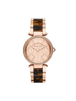 MK5841 Parker Rose Gold Tortoise Ladies Watch