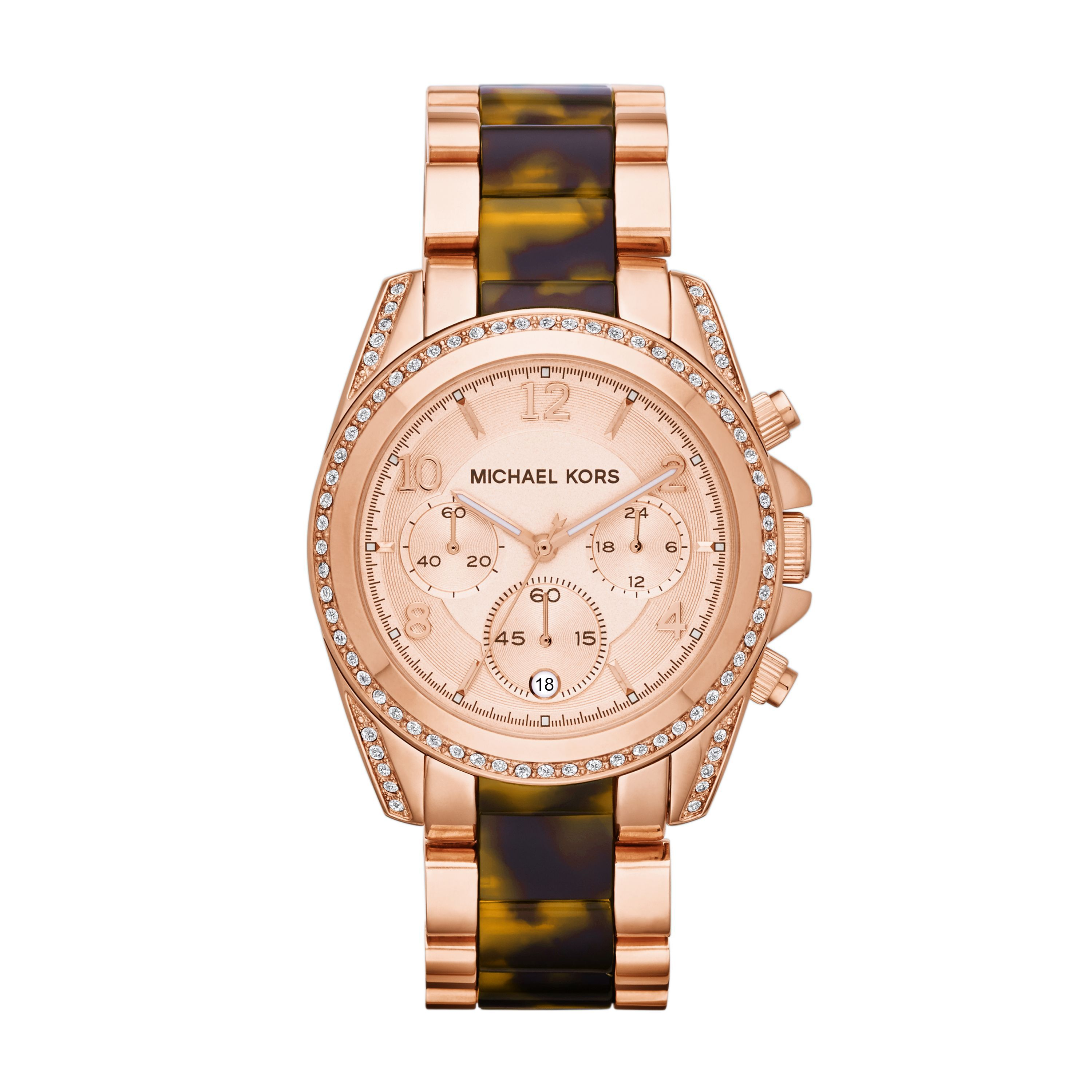 MK5859 Blair Rose Gold Tortoise Ladies Watch