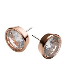 Michael Kors Brilliance Rose Gold Stud Earrings