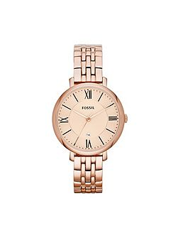 Fossil ES3435 Jacqueline Rose Gold Ladies Bracelet Watch