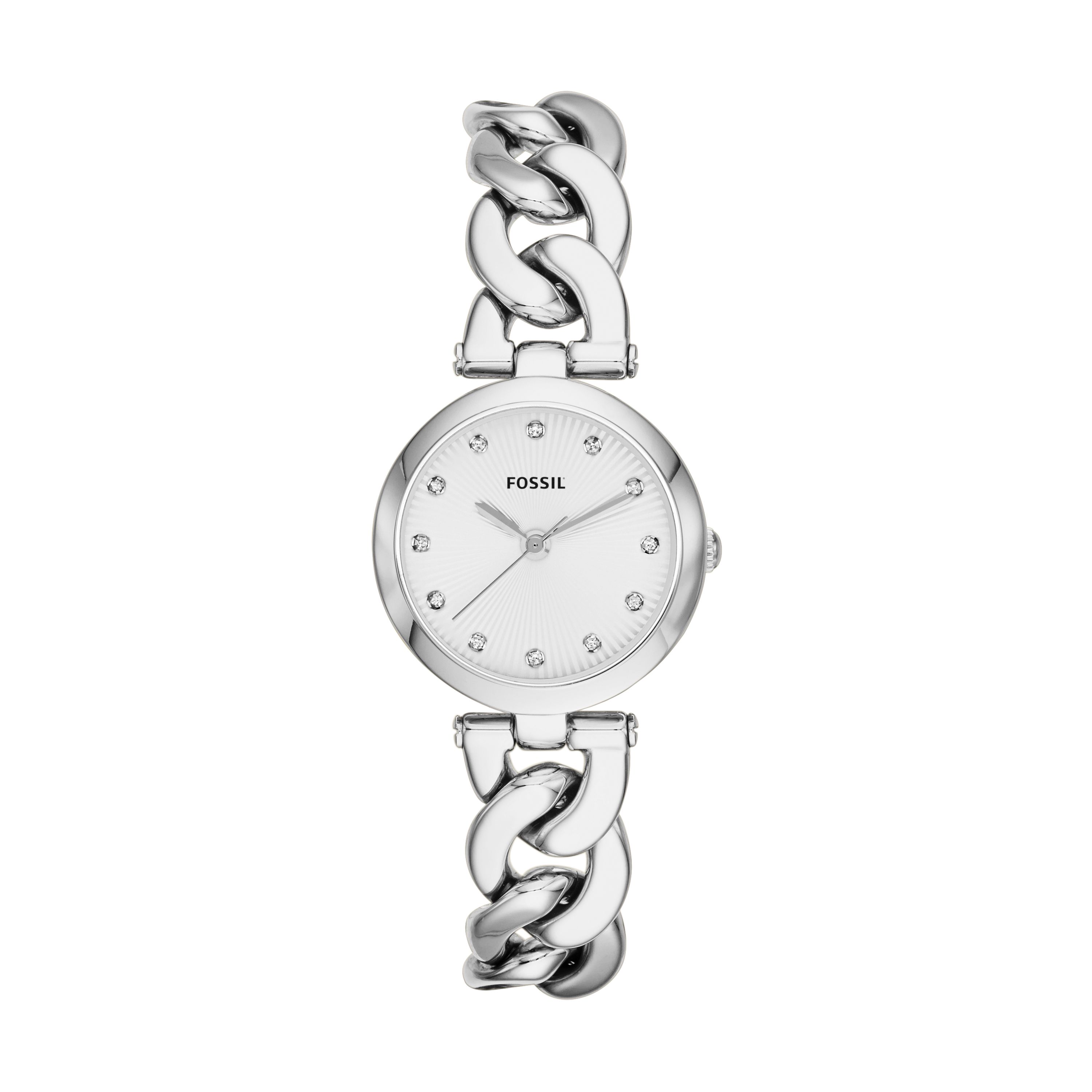 ES3390 Silver twist bracelet watch