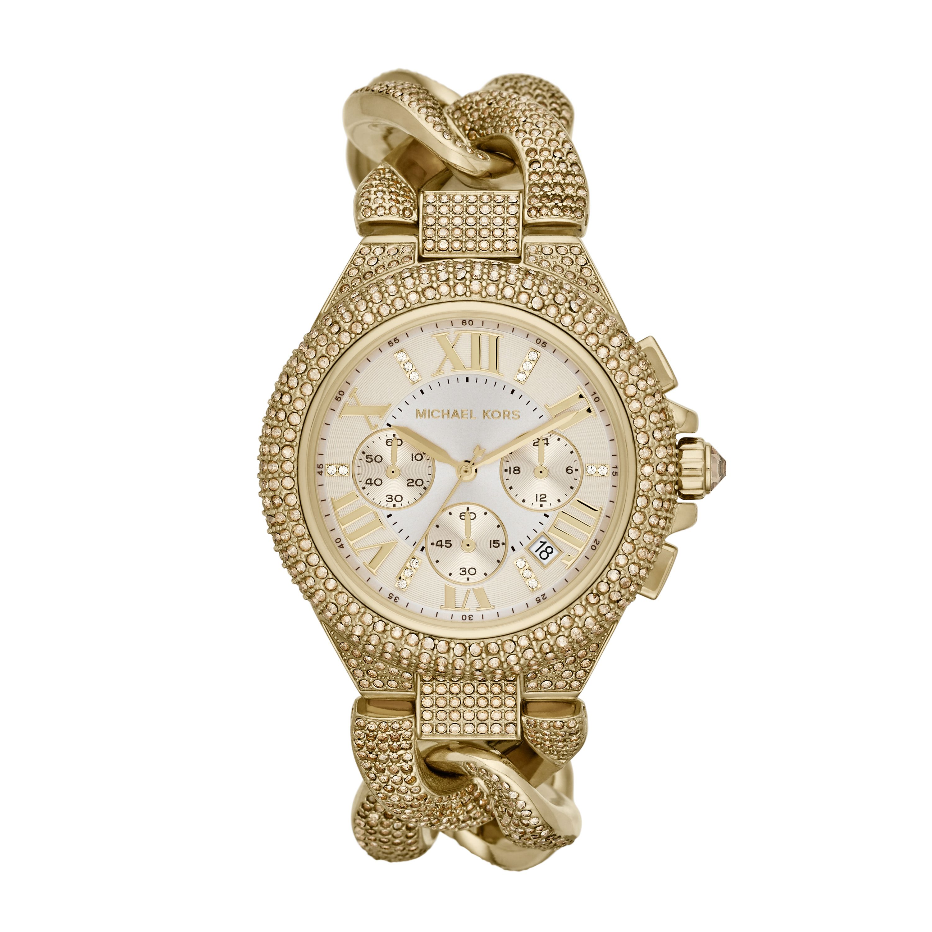 MK3248 Camille Ladies Gold Glitz Bracelet Watch