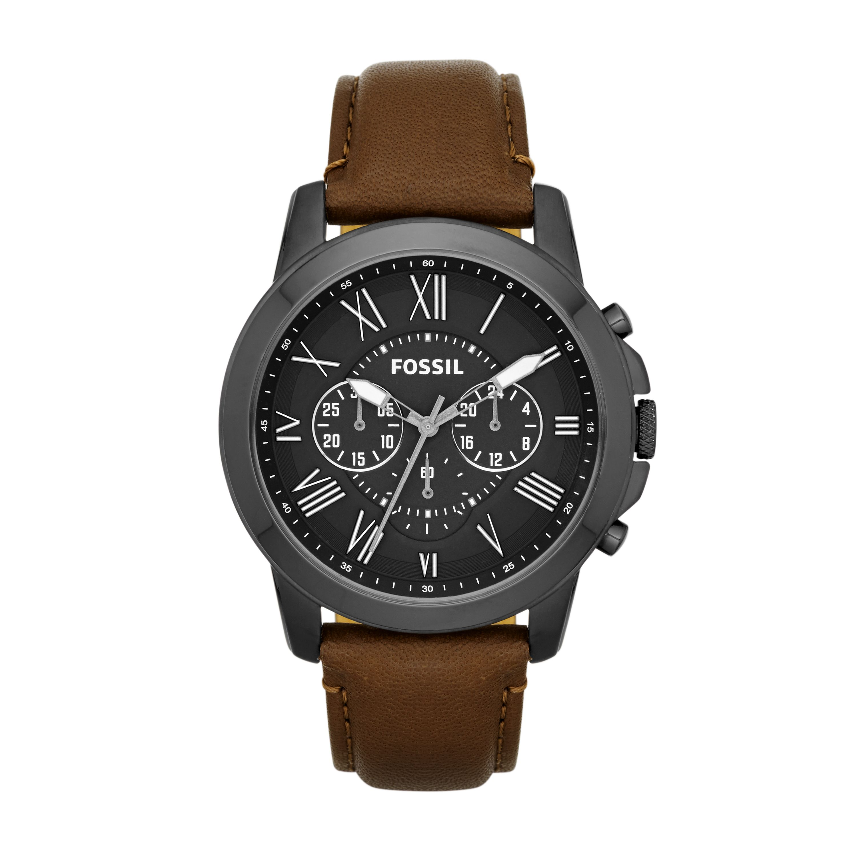 FS4885 Grant Brown Leather Mens Watch