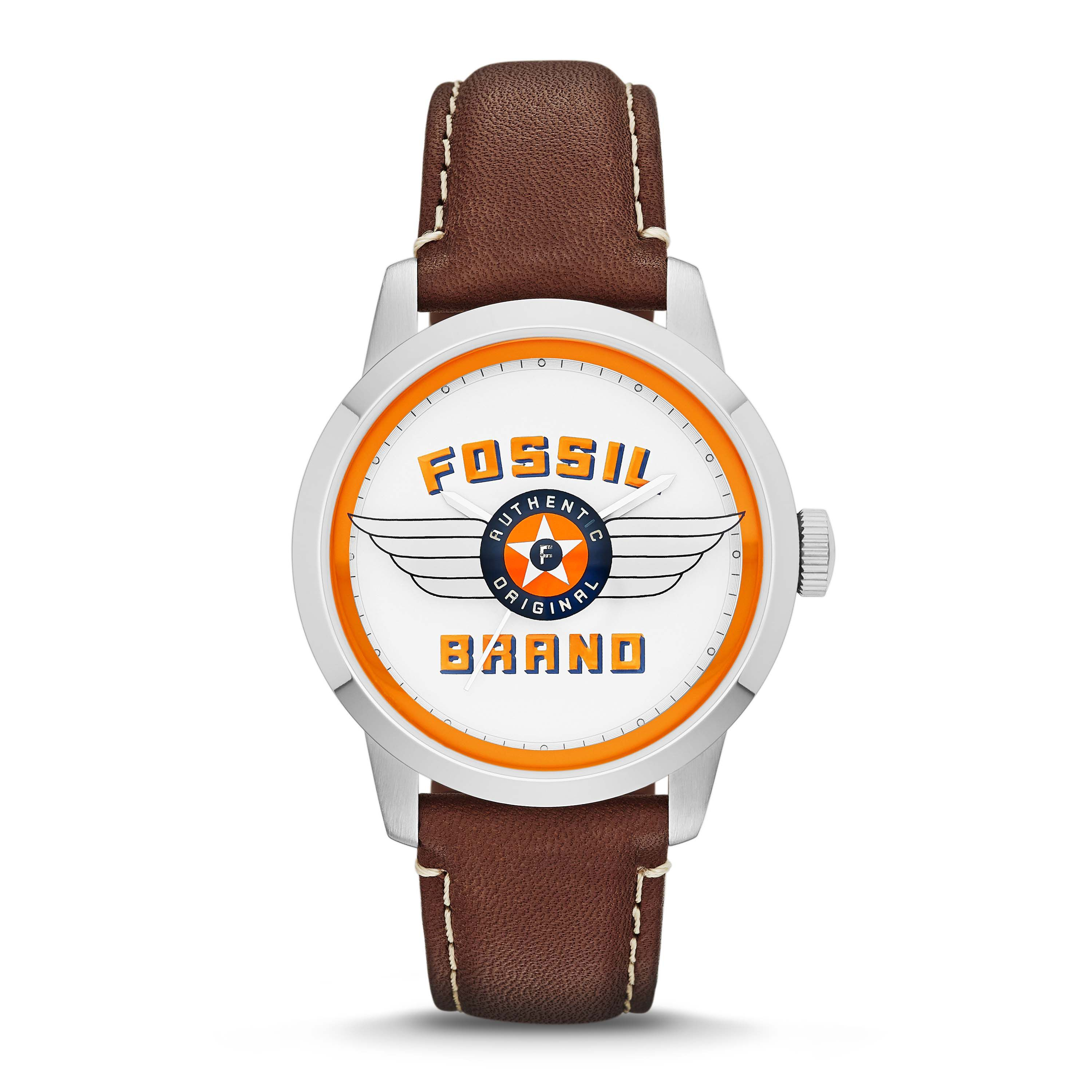Fs4896 townsman gents brown leather watch