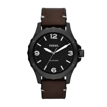 Fossil JR1450 Nate Brown Leather Mens Watch
