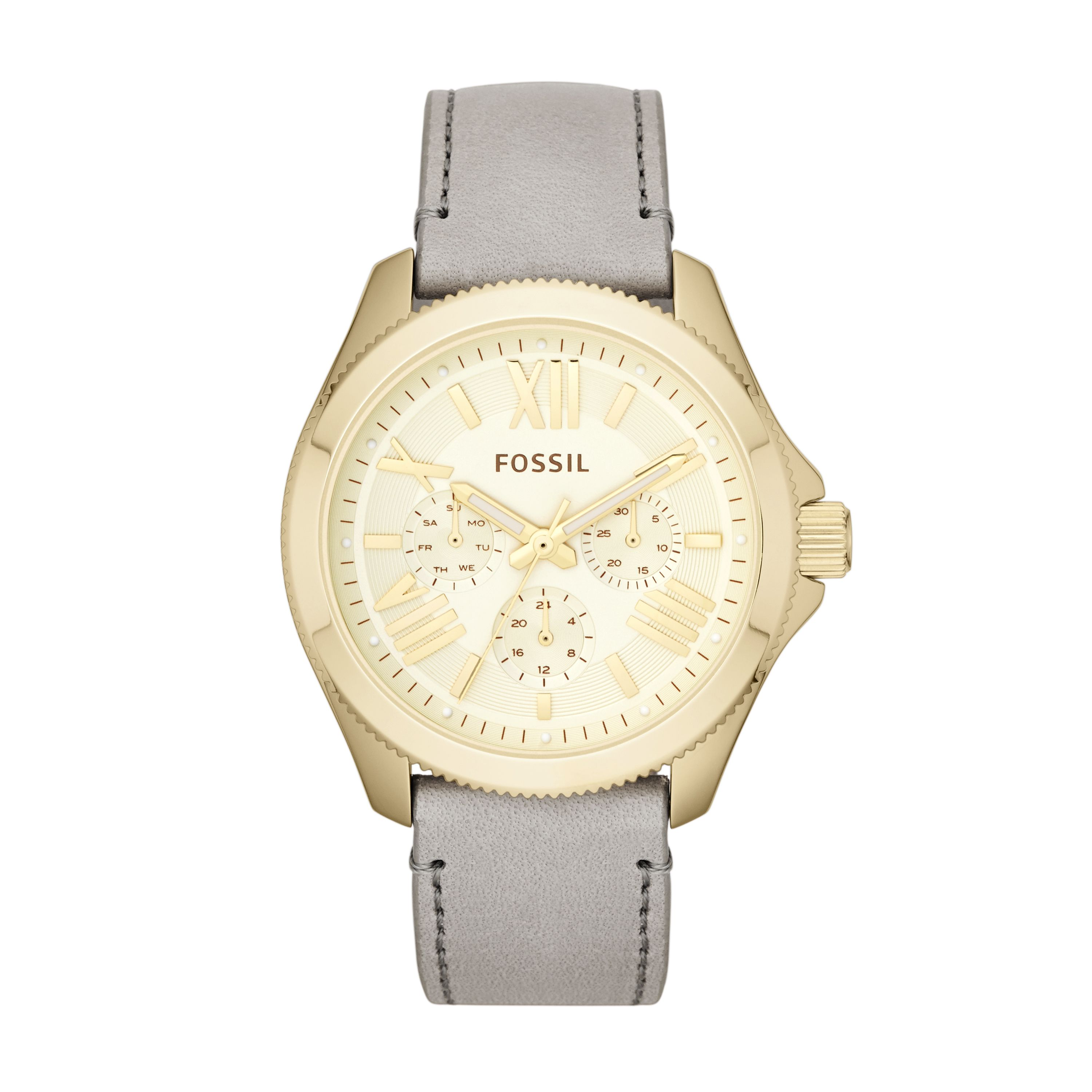 AM4529 CECILE grey leather ladies watch