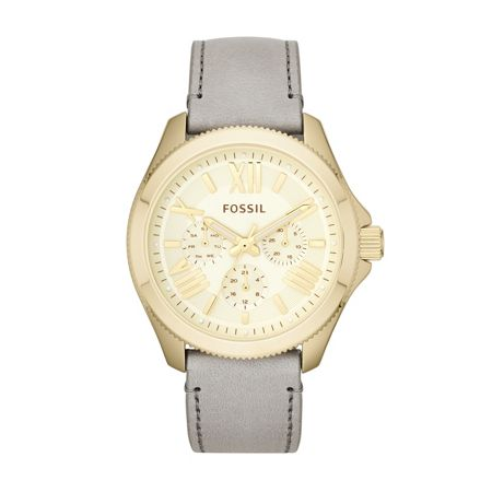 Fossil AM4529 Cecile Grey Leather Ladies Watch
