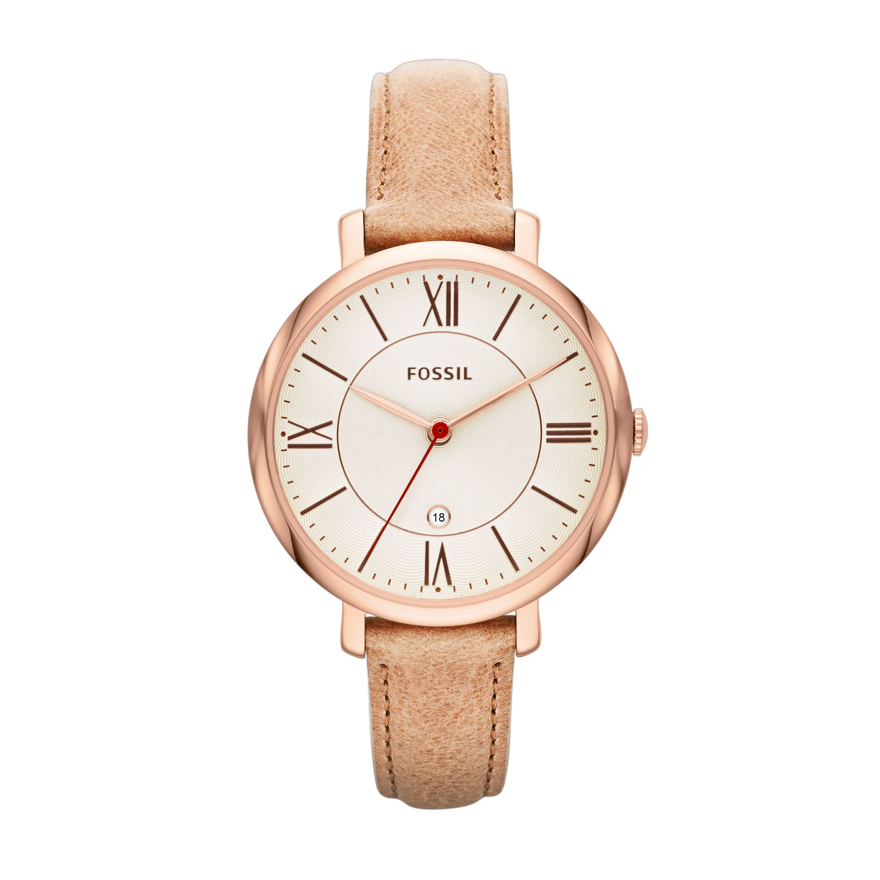 ES3487 Jacqueline Sand Leather Ladies Watch