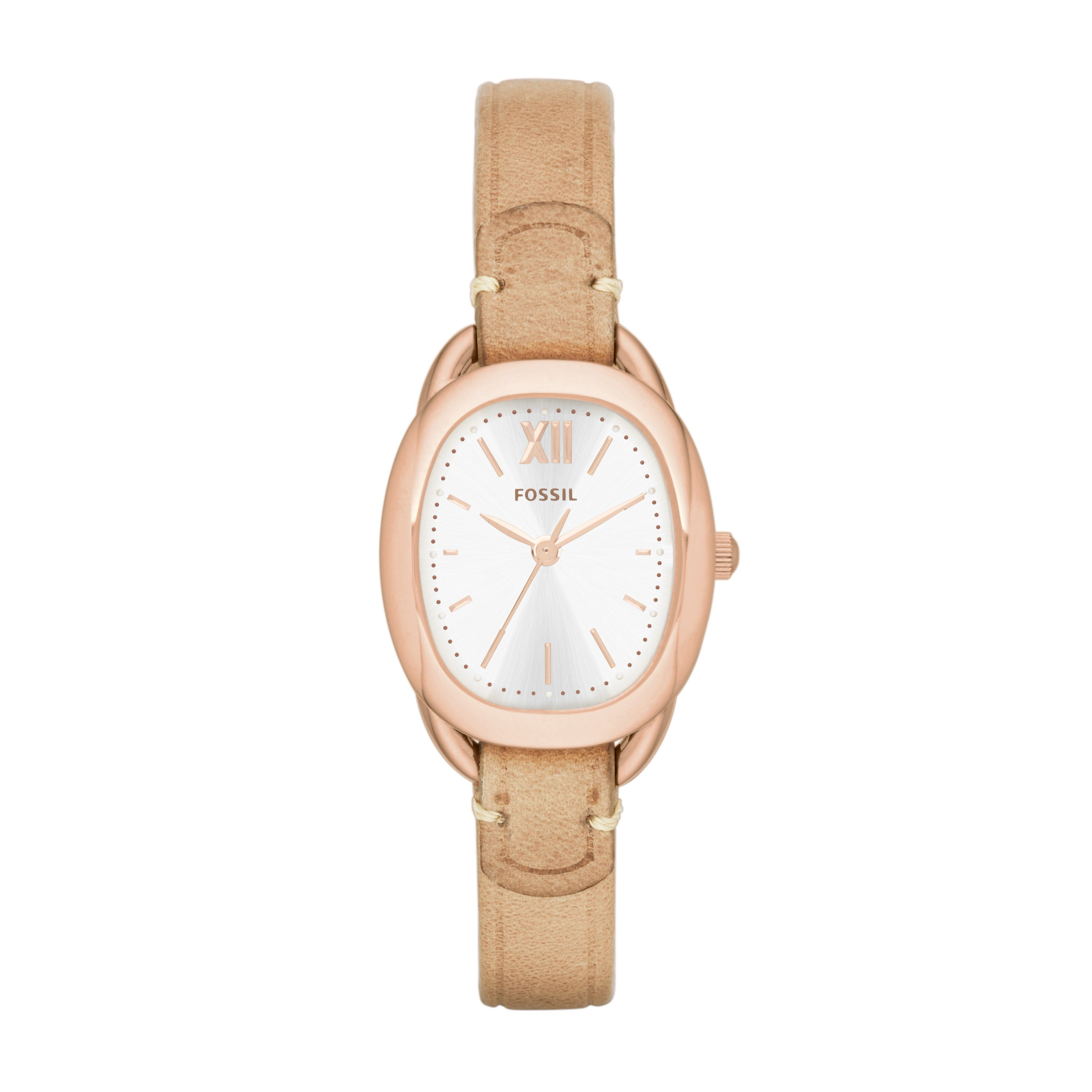 ES3514 Rose gold oval case vintage style watch