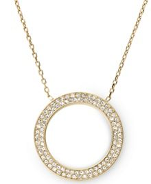 Michael Kors Brilliance Gold Pave Pendant Necklace