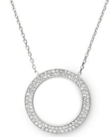 Michael Kors Brilliance Silver Pave Pendant Necklace