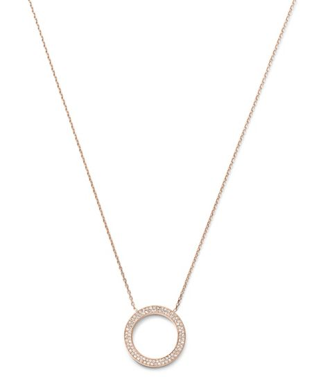 Michael Kors Brilliance Rose Gold Pendant Necklace