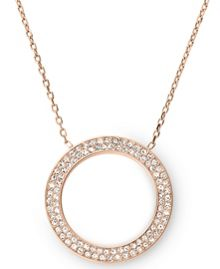 Brilliance Rose Gold Pendant Necklace