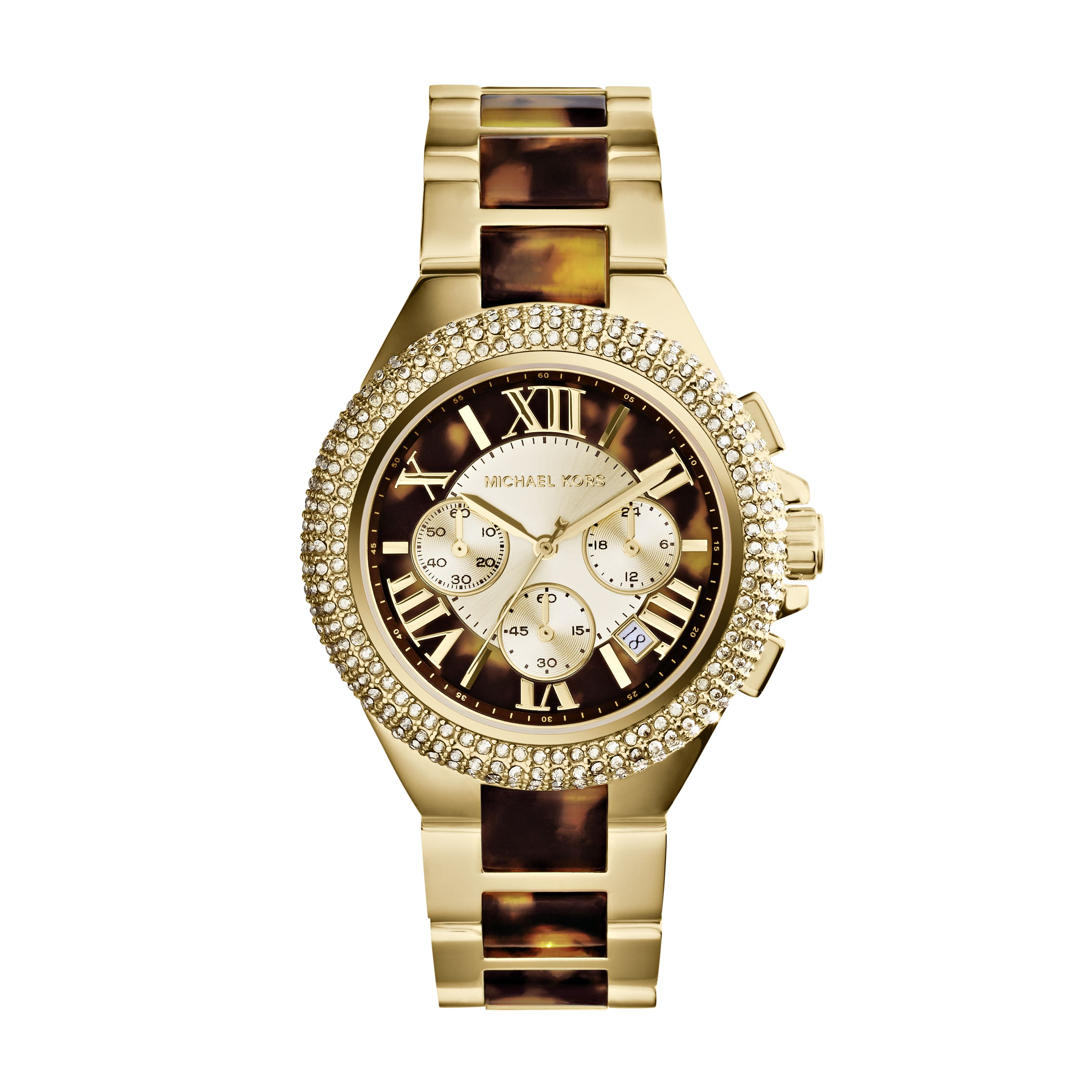MK5901 Camille Gold Tortoise Ladies Watch